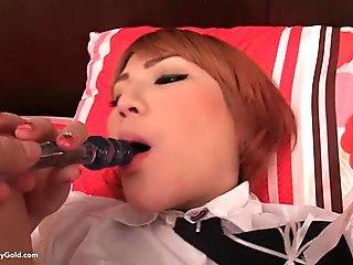 Korean Schoolgirl Ladyboy Nanny Creampie