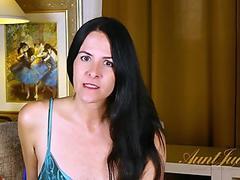 Charming Lady Rubs Pussy
