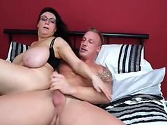 Biesexual with big tits do some BDSM