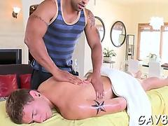 Getting booty filled at massage