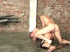Blond bitch Corey Conor disciplined by dominant cock