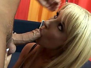 Russian Slut Elena Koshka gets fucked hard and creampied by 'John'.