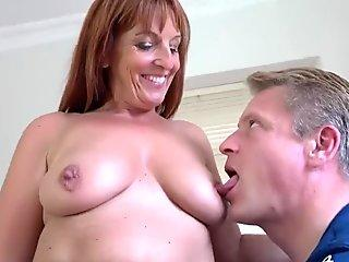 German Mom Caught Guy While Wanking