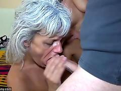 Sweet MiLF in white lingerie has her hose ripped and her pussy pounded