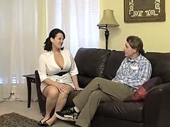 Big tit brunette MILF is craving a good pounding