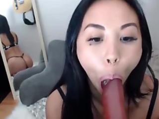 Jizz mouth asian blows
