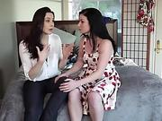 Kinky lesbians Chanel and Veruca goes pussy licking and fingering