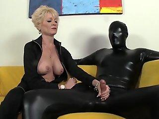 Hot girl will use anything to fill her hairy pussy when aroused