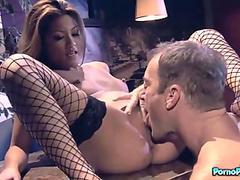 Asian Beauty Charmane Sucks Randys Spears Off