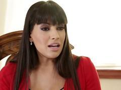 Glam latina milf pussylicking stockinged teen