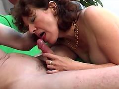 Big tits milf titty fuck with facial cum