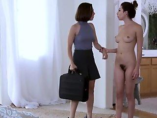 Lesbian babe gets possessed by a UFO but still loves pussy!