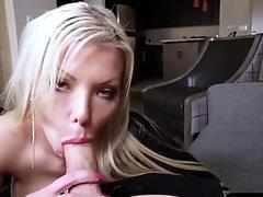 Sexy stepmom seduces horny stepson