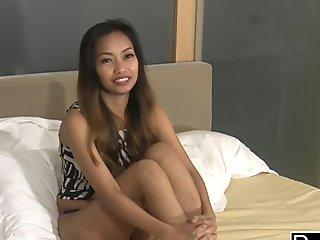 THICK THAI TEEN slammed raw by FAT white cock in HOTEL