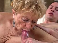 Pensioner takes mouthful