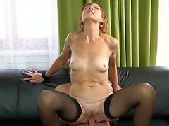 super-steamy light-haired pounds her busty stepmom