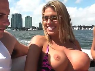 Charisma Cappelli Gives Head On A Boat With Help From Roxy