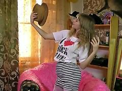 Energists - YoungViktoriya - fur covered 'I enjoy R & R' teen Masturbates