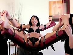 women group tickle Tiny Gina Devine