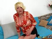 The very first MMF threesome for the hot blonde with double penetration!