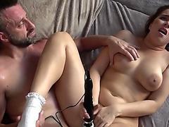 Elicia Solis masturbating & showing her ass