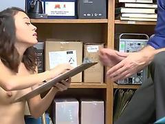 The LP Officer fucks Jasmine Greys tight pussy on top!