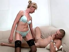Sexy granny with young gent
