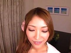 Oriental pornstar swallows sperm