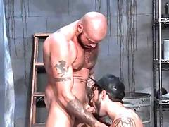 Horny hunk gets pounded