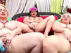 Triple Threat with Angelina Castro?s huge hooter buddies!