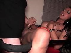 Ladyboy Natty Sex Swing Chair Bareback