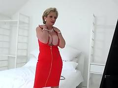 brit mature female Sonia sexy striptease