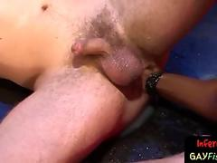 Ginger jock moans for rough ass fisting