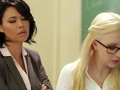 Asian lesbian teacher toys newbie teens ass