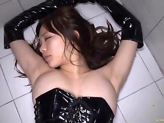 Petite Asian Has Her Holes Attacked By Monster Sized Dark BBC
