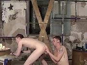 BDSM twink Blake Harvey toy stuffed and rough ass drilled