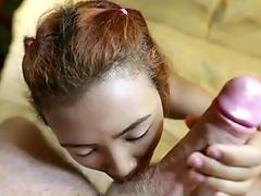 Tuk Tuk Patrol - lil' young Thai babe takes on big milky lollipop