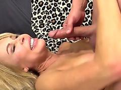 Grandma Erica Lauren Slides Her Aged muff on a long cock