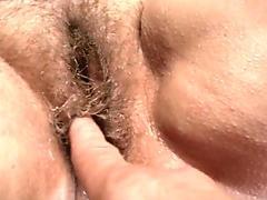 Watch my hairy pussy drip cum.