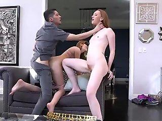 Japan family show xxx An Uninvited Sneaky Stepsis Threesome